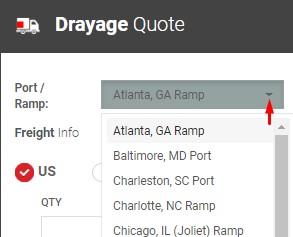 Drayage ports-ramps